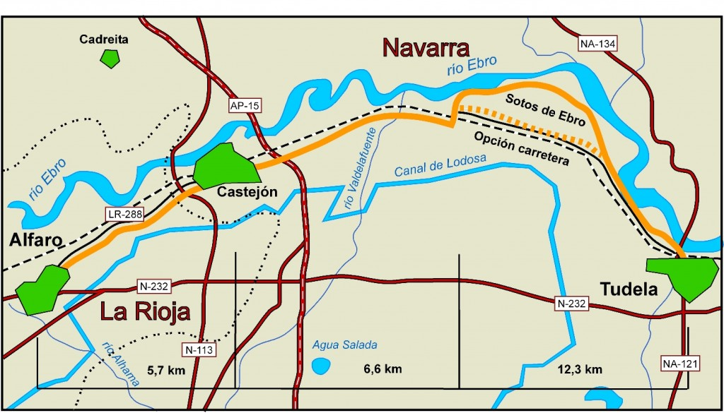 Camino ignaciano 12 Alfaro-Tudela