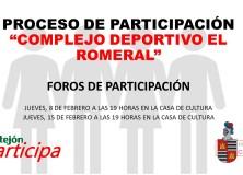"""PROCESO DE PARTICIPACIÓN """"Complejo Deportivo El Romeral"""""""