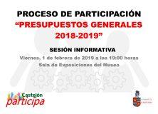 Castejón Participa: Presupuestos Municipales 2018-19