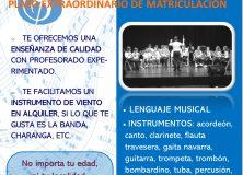 Escuela de Música. Plazo extraordinario de matriculación.